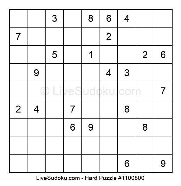 Hard Puzzle #1100800