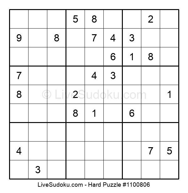 Hard Puzzle #1100806