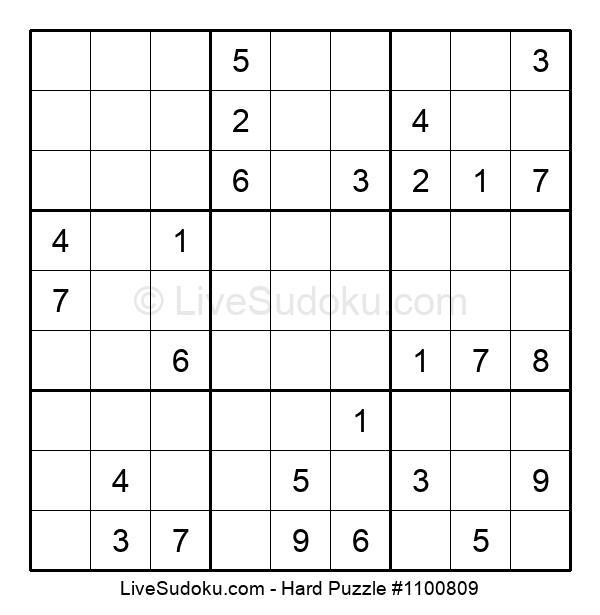 Hard Puzzle #1100809