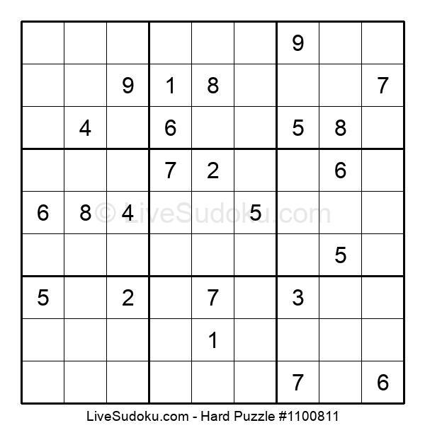 Hard Puzzle #1100811