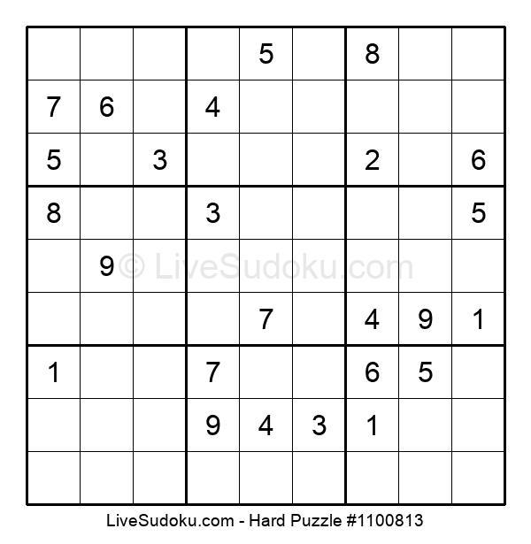 Hard Puzzle #1100813