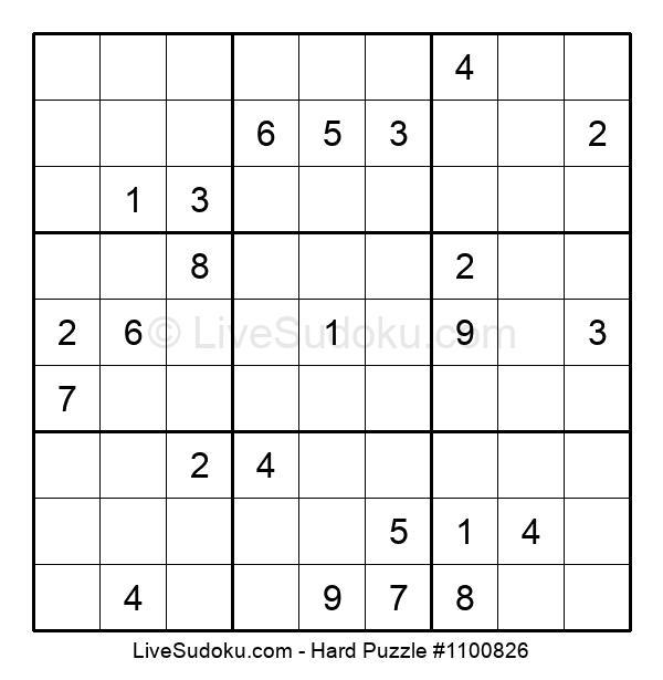 Hard Puzzle #1100826