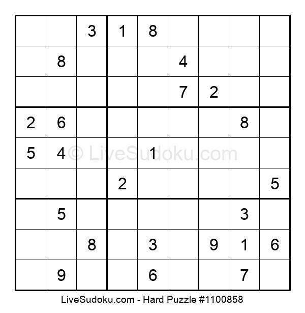Hard Puzzle #1100858