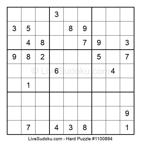 Hard Puzzle #1100894