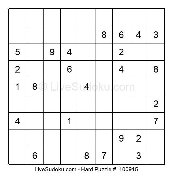 Hard Puzzle #1100915