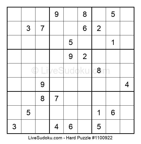 Hard Puzzle #1100922