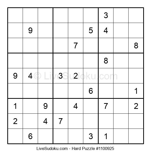 Hard Puzzle #1100925