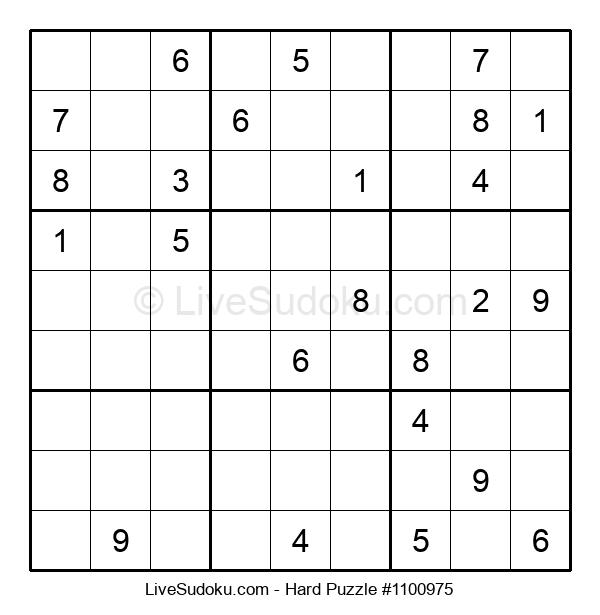 Hard Puzzle #1100975