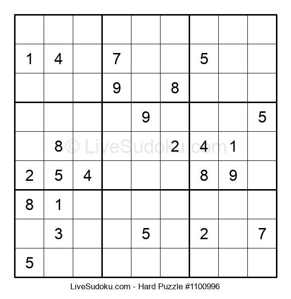 Hard Puzzle #1100996