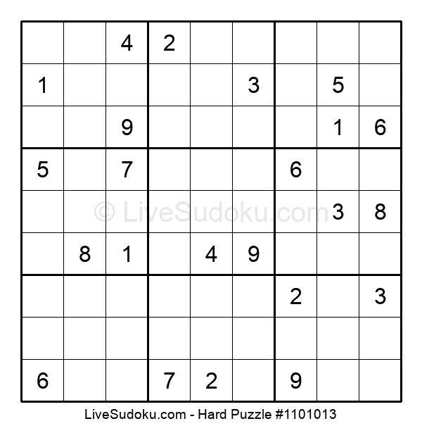 Hard Puzzle #1101013