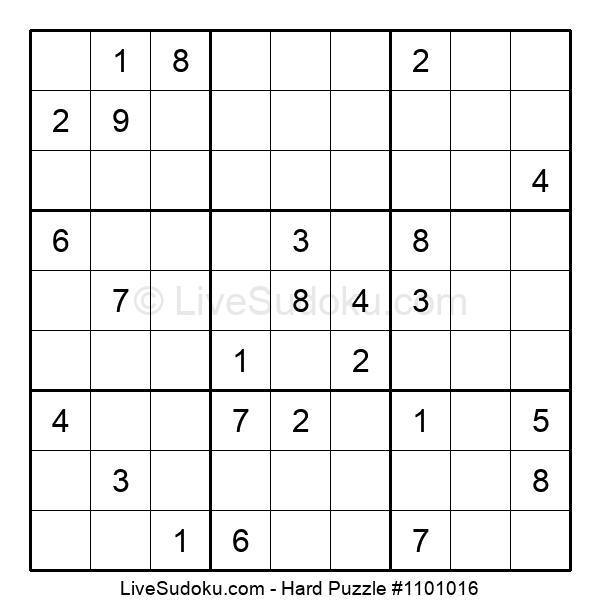 Hard Puzzle #1101016
