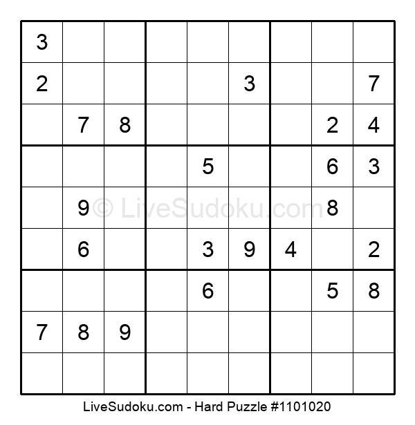 Hard Puzzle #1101020
