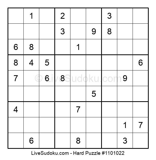 Hard Puzzle #1101022