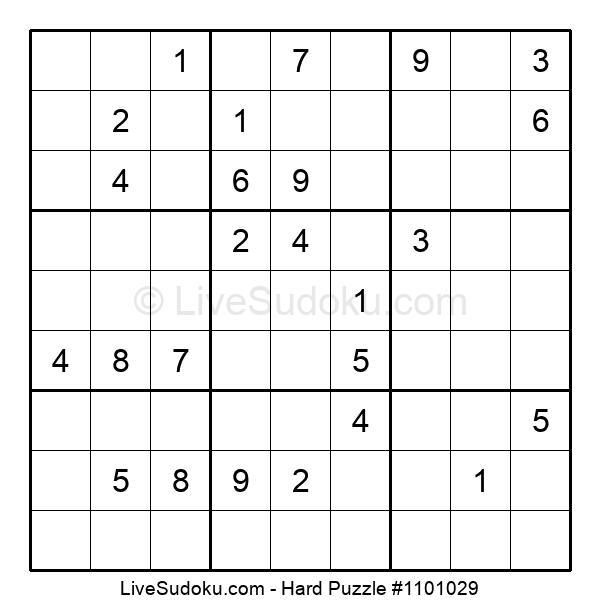 Hard Puzzle #1101029