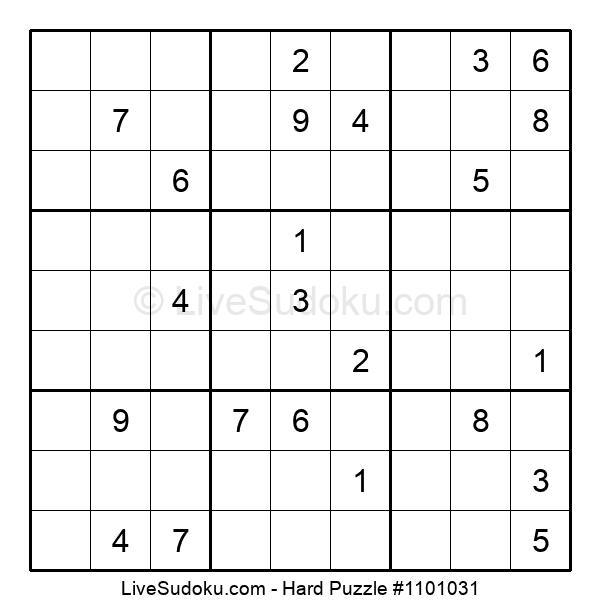 Hard Puzzle #1101031