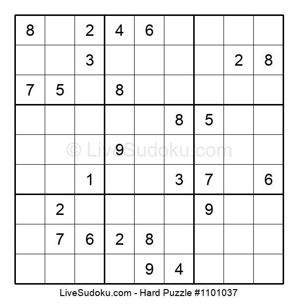 Hard Puzzle #1101037