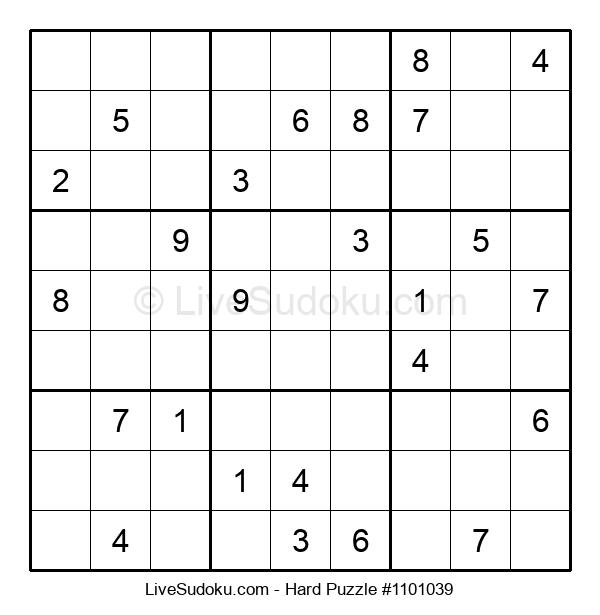 Hard Puzzle #1101039