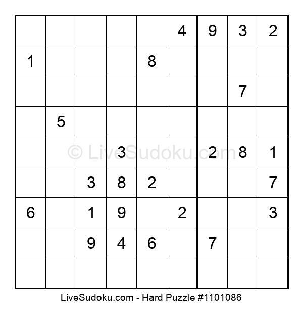 Hard Puzzle #1101086