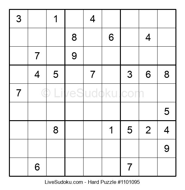 Hard Puzzle #1101095
