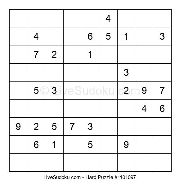 Hard Puzzle #1101097