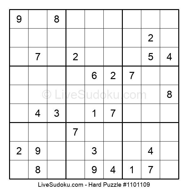 Hard Puzzle #1101109