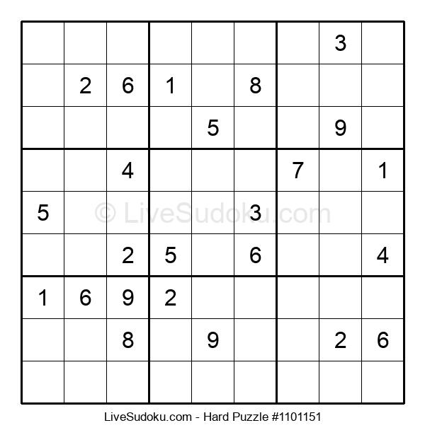 Hard Puzzle #1101151