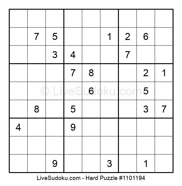 Hard Puzzle #1101194