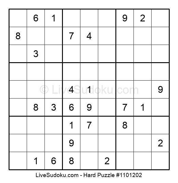 Hard Puzzle #1101202