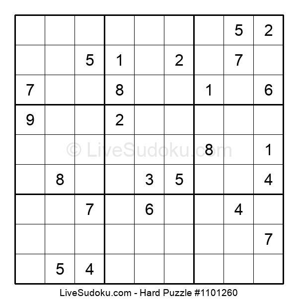 Hard Puzzle #1101260