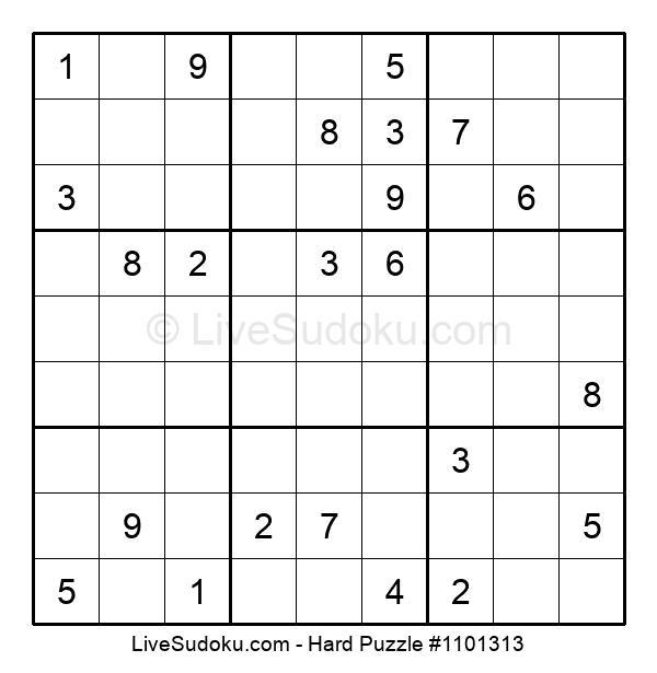 Hard Puzzle #1101313
