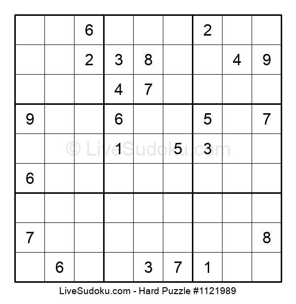 Hard Puzzle #1121989