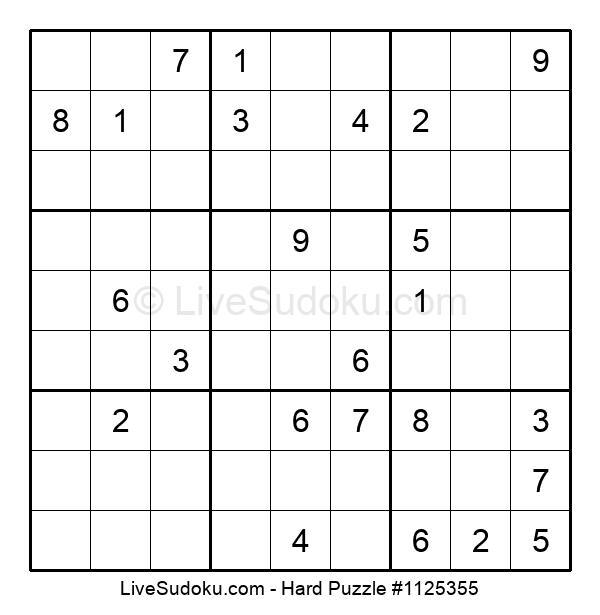 Hard Puzzle #1125355