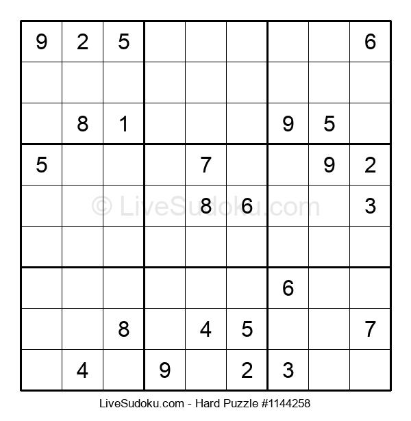 Hard Puzzle #1144258