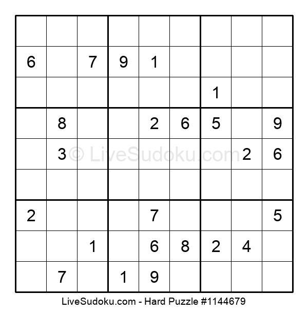 Hard Puzzle #1144679