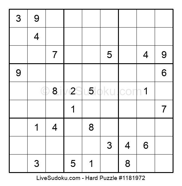 Hard Puzzle #1181972