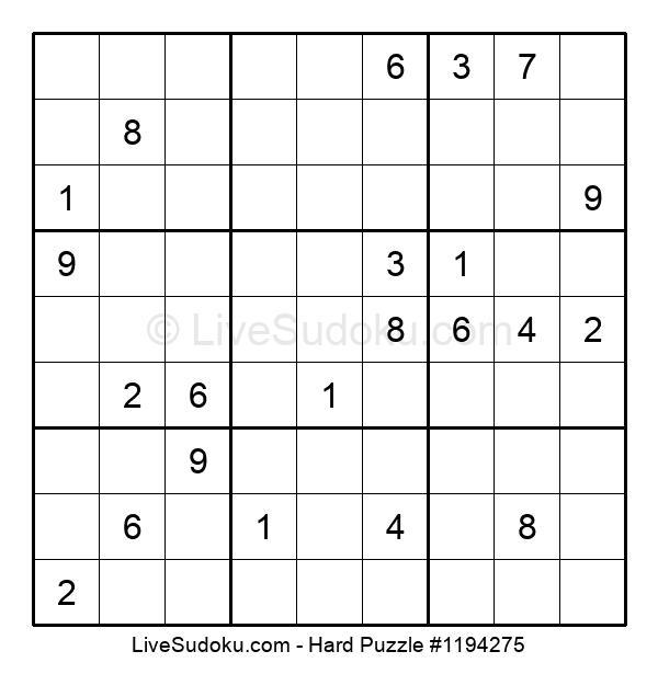Hard Puzzle #1194275