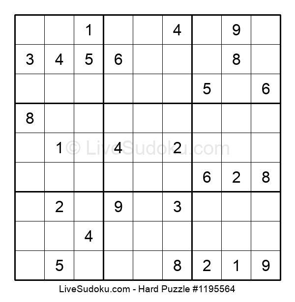 Hard Puzzle #1195564