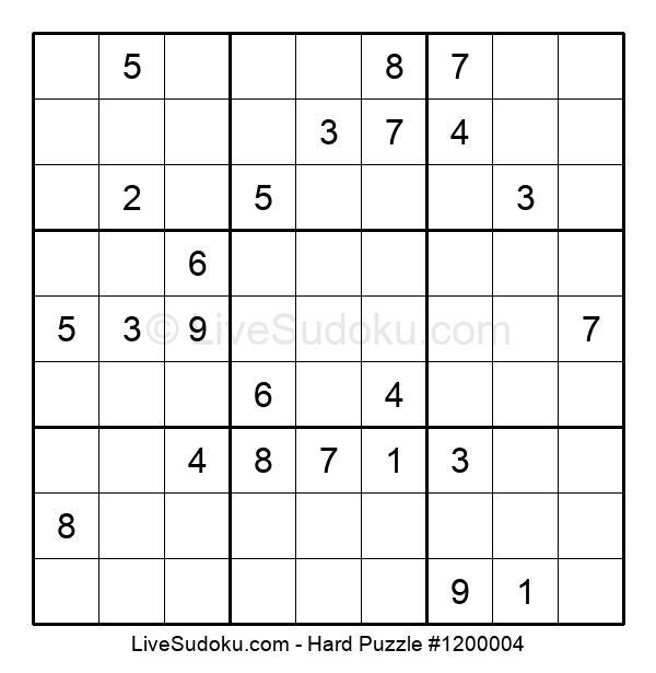 Hard Puzzle #1200004