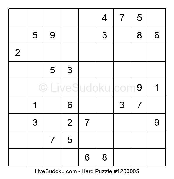 Hard Puzzle #1200005