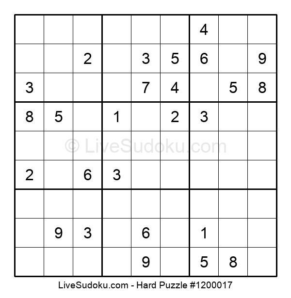 Hard Puzzle #1200017