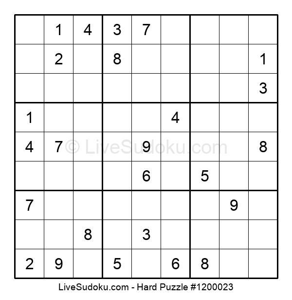 Hard Puzzle #1200023