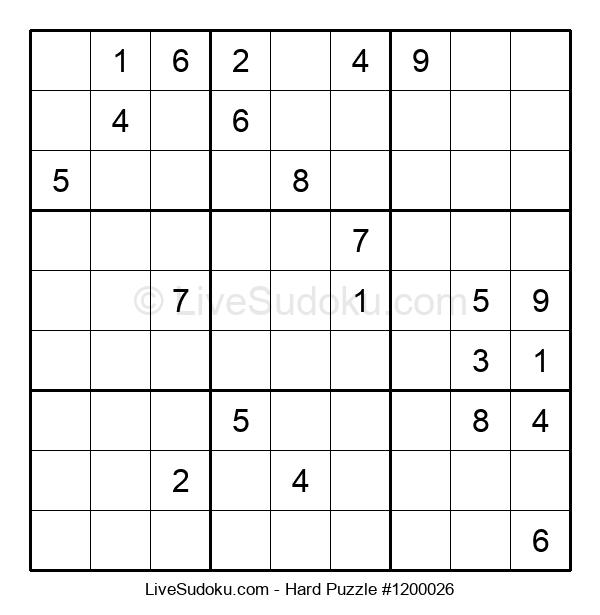 Hard Puzzle #1200026