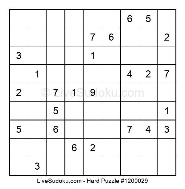 Hard Puzzle #1200029