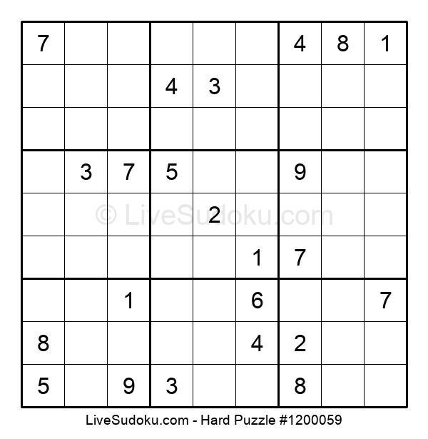 Hard Puzzle #1200059