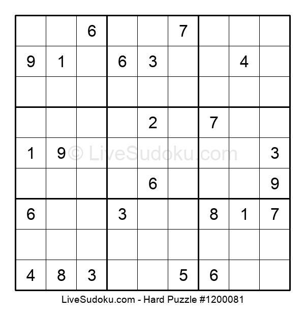 Hard Puzzle #1200081