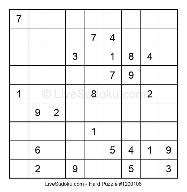 Hard Puzzle #1200106
