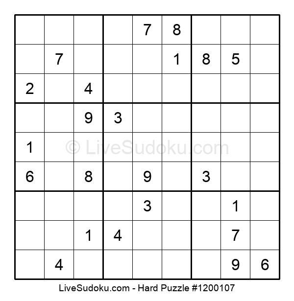 Hard Puzzle #1200107