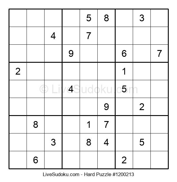 Hard Puzzle #1200213
