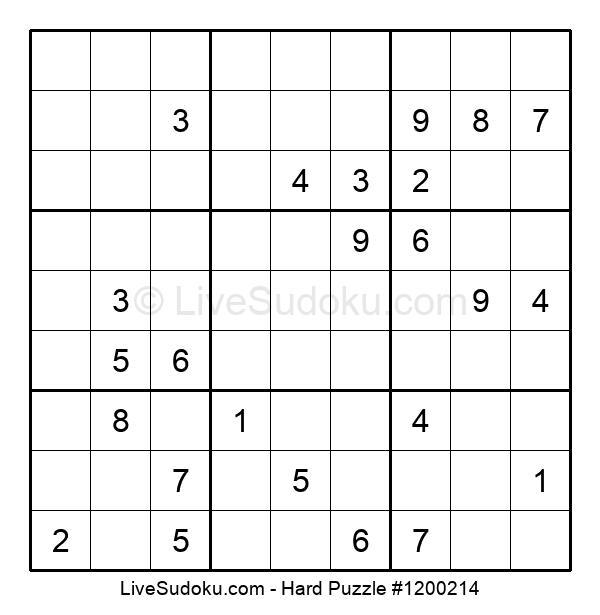 Hard Puzzle #1200214