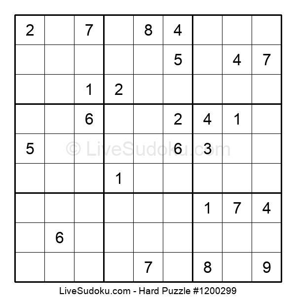 Hard Puzzle #1200299